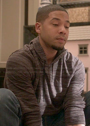 Jamal's grey textured print hoodie on Empire