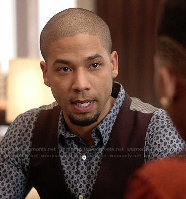 Jamal's paisley print shirt on Empire
