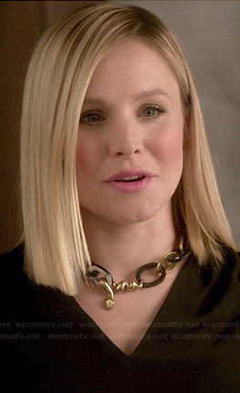 Jeannie's snake chain link necklace on House of Lies