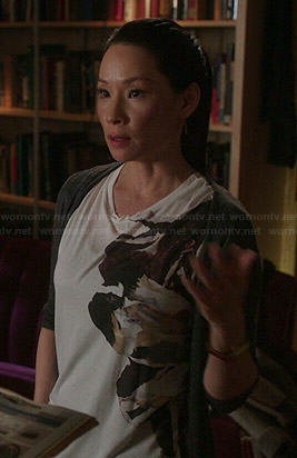 Joan's placement graphic tee on Elementary