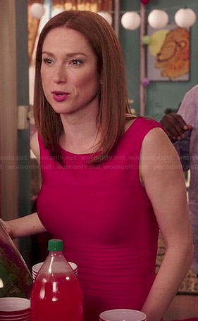 Kimmy's pink birthday dress on Unbreakable Kimmy Schmidt