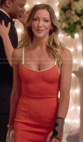 Laurel's orange dress on Arrow