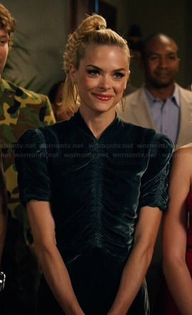 Lemon's ruched velvet dress on Hart of Dixie