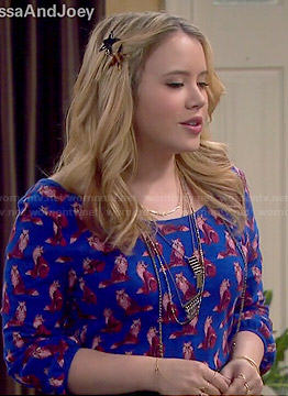 Lennox's fox print top on Melissa and Joey