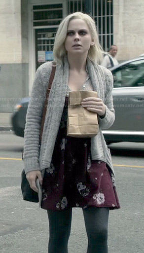 Liv's burgundy floral dress on iZombie