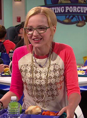 Maddie's houndstooth heart top on Liv and Maddie