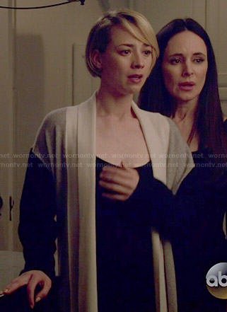 Margaux's colorblock robe on Revenge