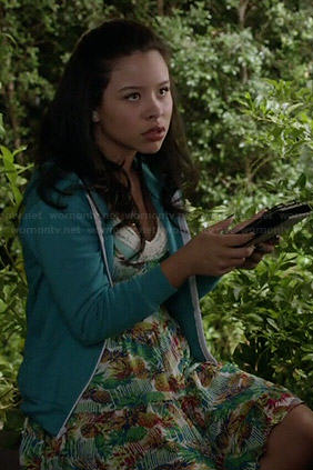 Mariana's pineapple print dress on The Fosters