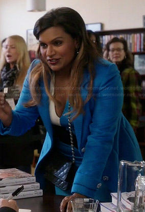 Mindy's blue colorblock dress on The Mindy Project