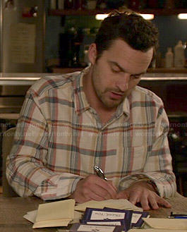 Nick's cream checked shirt on New Girl
