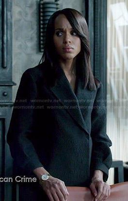 Olivia's black textured jacket on Scandal