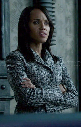 Olivia's black and white tweed jacket on Scandal