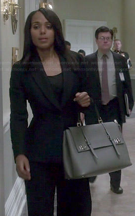 Olivia's grey double buckle bag on Scandal