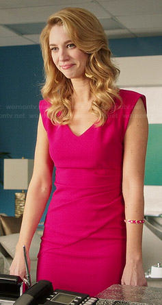 Petra's pink v-neck dress on Jane the Virgin