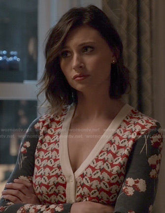 Peyton's mixed floral print cardigan on iZombie