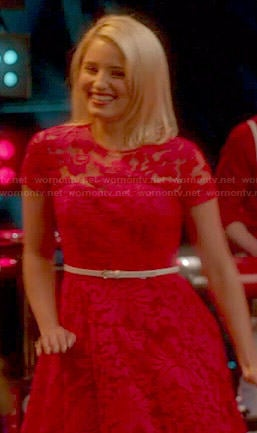 Quinn's red lace dress on Glee