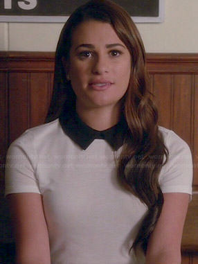 Rachel's white top with black collar on Glee