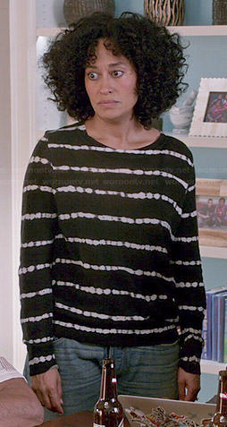 Rainbow's black tie dyed sweater on Black-ish