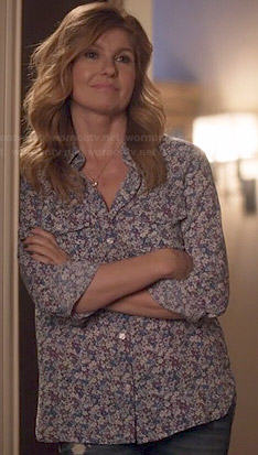 Rayna's floral print shirt on Nashville