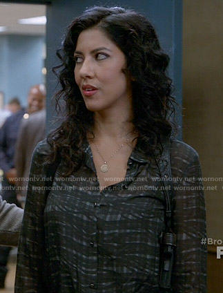 Rosa's black plaid blouse on Brooklyn Nine-Nine