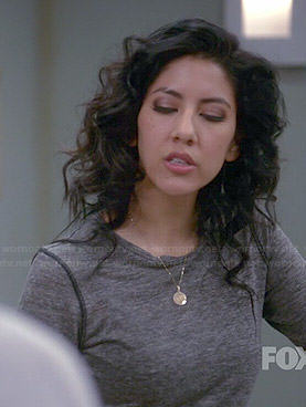 Rosa's grey long sleeved top with piping on Brooklyn Nine-Nine