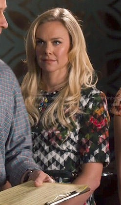 Shelby's geometric floral print dress on Hart of Dixie