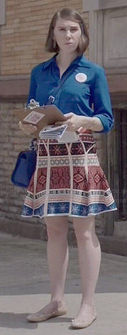 Shoshanna's red, white and blue printed skirt on Girls