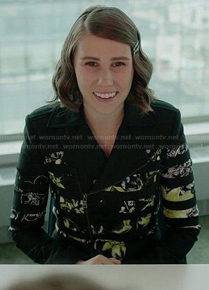 Shoshanna's floral and stripe jacket on Girls