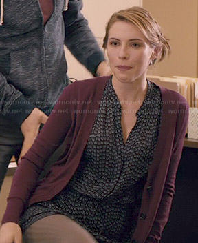 Stevie's arrow print dress on Madam Secretary