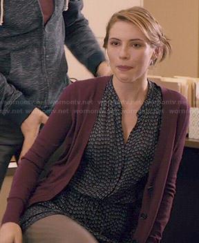 Stevie's arrow print dress on Madam Secretary