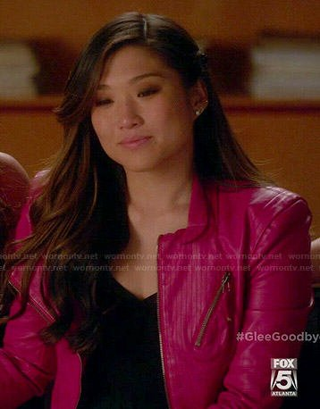 Tina's pink leather jacket on Glee