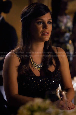 Zoe's black studded dress on Hart of Dixie