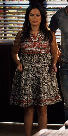 Zoe's mixed print embroidered dress on Hart of Dixie