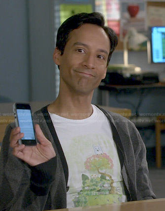 Abed's owl/tree tee on Community