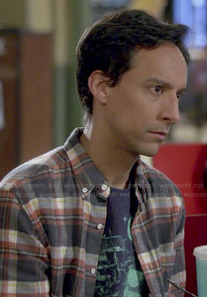 Abed's ship and moon graphic tee on Community