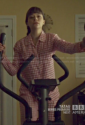 Alison's pink checked pajamas on Orphan Black