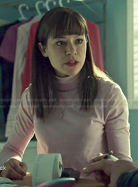 Alison's pink turtleneck on Orphan Black