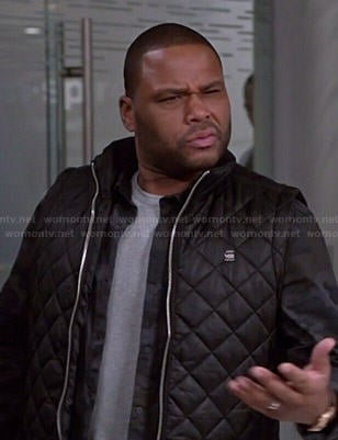 Andre's black quilted vest on Black-ish