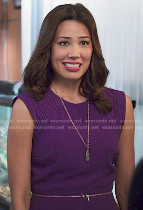 Angela's purple dress on Bones