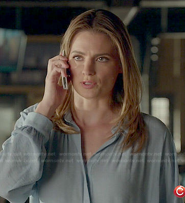 Beckett's blue blouse on Castle
