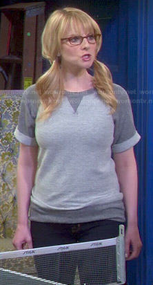 Bernadette's grey sweatshirt on The Big Bang Theory