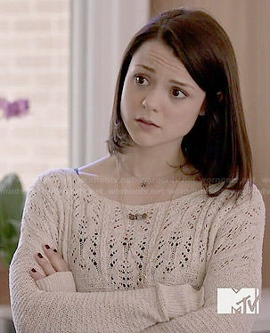 Carter's cream pointelle sweater on Finding Carter