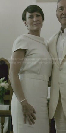 Claire's white dress on House of Cards