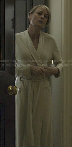 Claire's white robe on House of Cards