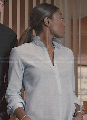 Daisy's blue shirt on Madam Secretary