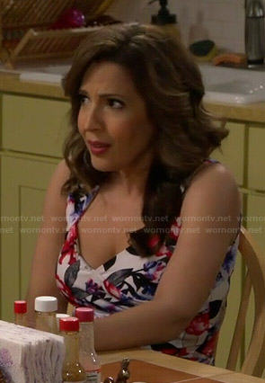 Daniela's floral top on Cristela
