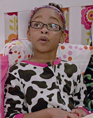 Diane's cow pajamas on Black-ish