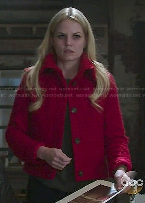 Emma's red quilted jacket on Once Upon a Time