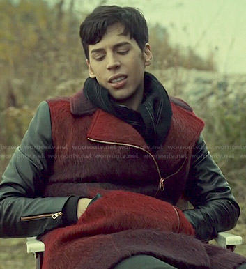 Felix's red coat with leather sleeves on Orphan Black