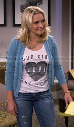 Gabi's Good Girls Love Bad Boys top on Young and Hungry
